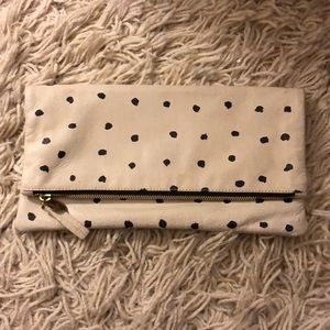 Clare V Spot Fold Over Zip Clutch